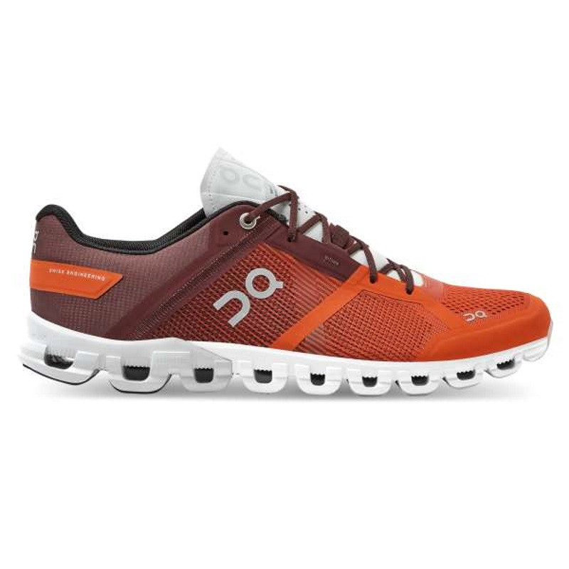 ON Mens Cloudflow Running Shoe Flare/Dawn