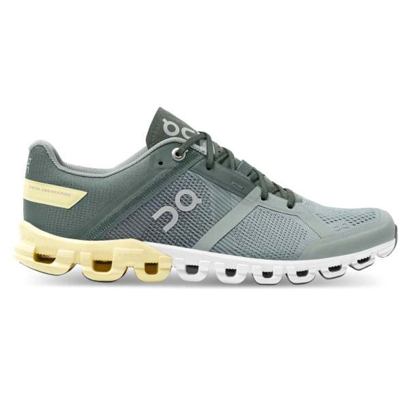 ON Womens Cloudflow Running Shoe Sea/Limeline