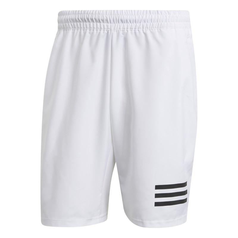 Adidas Mens Club Tennis 3 Stripes Shorts White Black