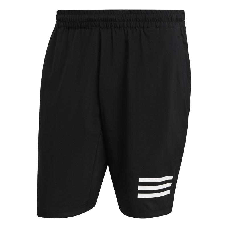 Adidas Mens Club Tennis 3 Stripes Shorts Black White