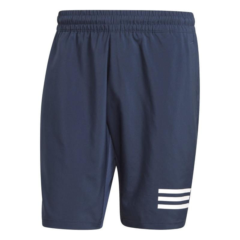 Adidas Mens Club Tennis 3 Stripes Shorts Navy White