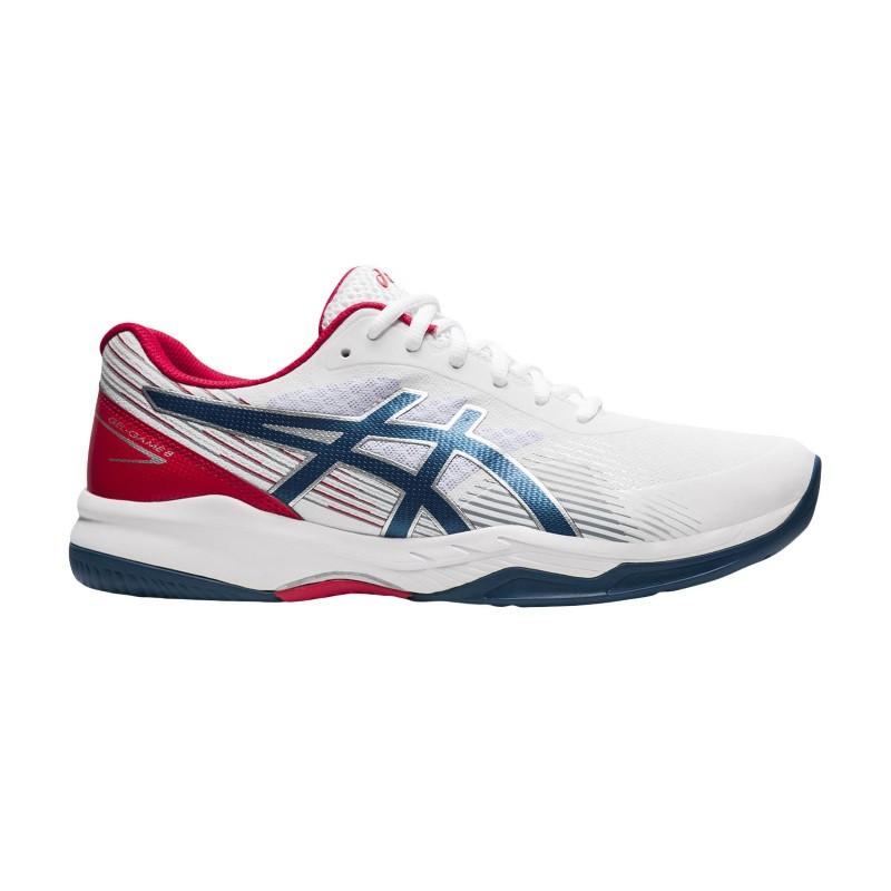 Asics Gel-Game 8 Tennis Shoe WHITE BLUE