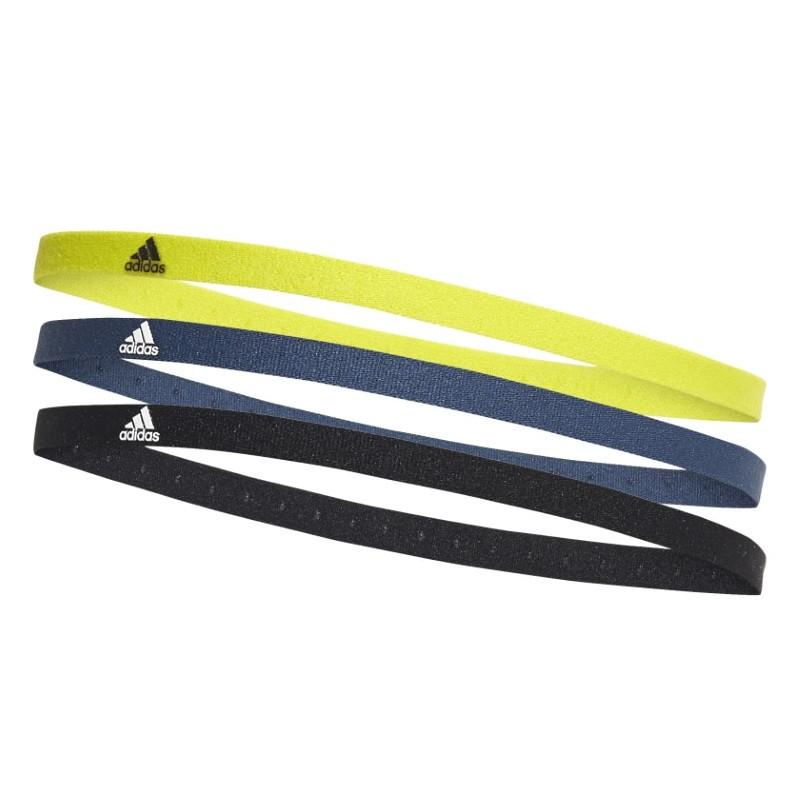 Adidas HAIRBAND 3 PACK Black / Crew Navy / Acid Yellow