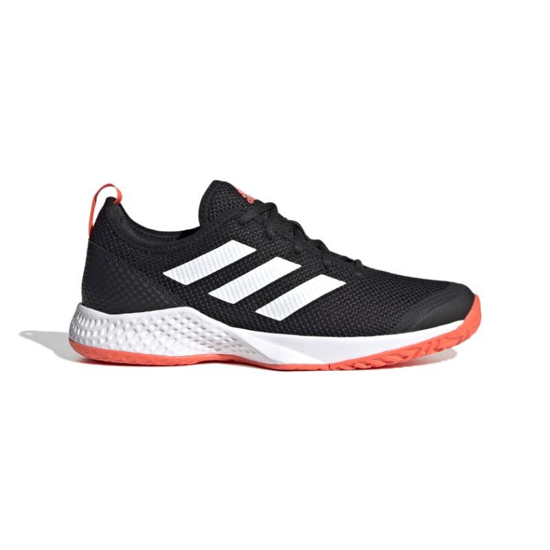 Adidas Mens Court Control Tennis Shoe Black White Red