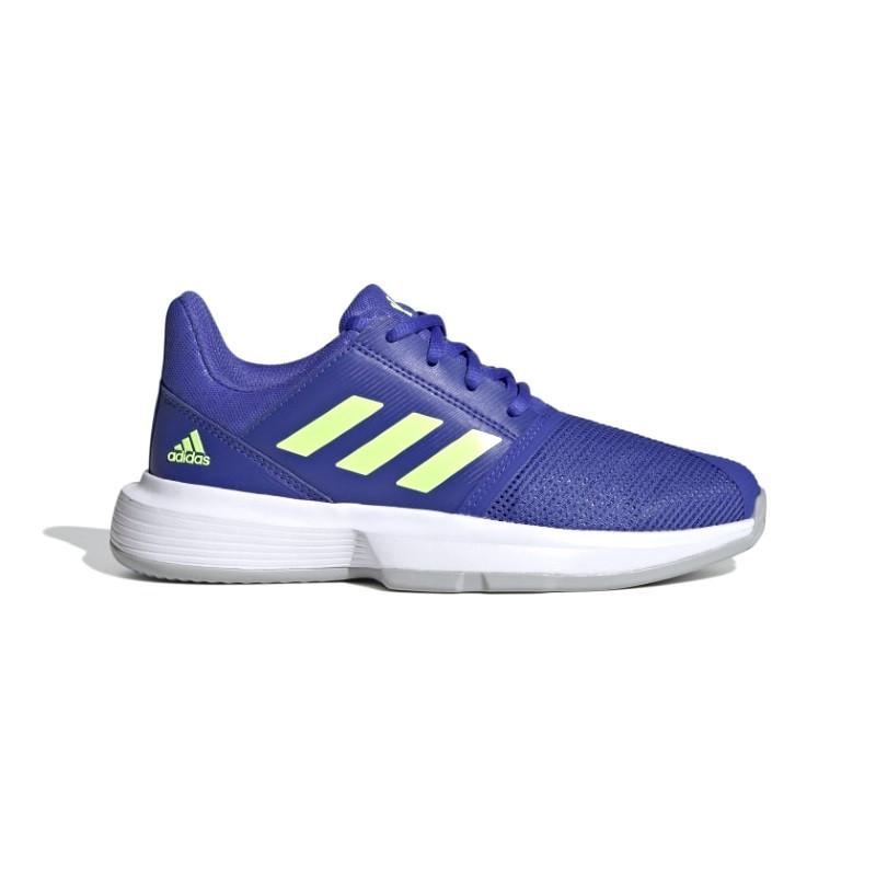 Adidas Juniors Courtjam tennis shoe Blue Green White