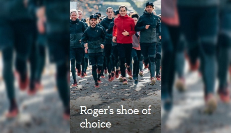 ROGER FEDERER with ON SHOES